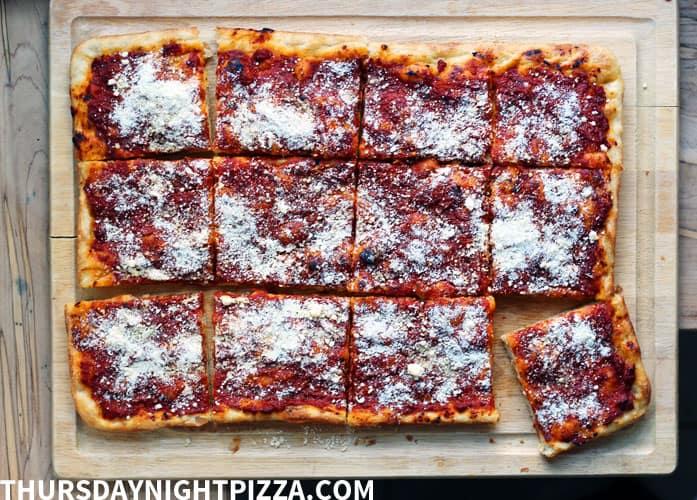 Philly Style Tomato Pie Thursday Night Pizza Pizza Recipe
